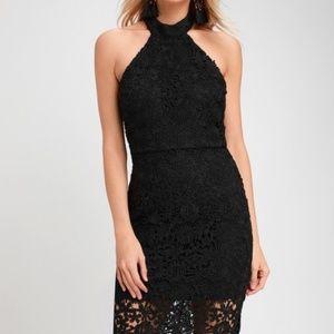fa95e96584a5 Lulu's Dresses | Lulus Strut And Stun Lace Halter Midi Dress | Poshmark